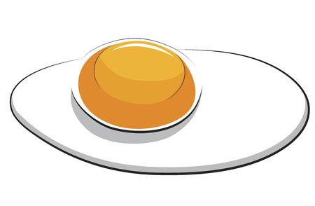 ジャガイモ ケーキ - 揚げ卵は白で隔離されます。