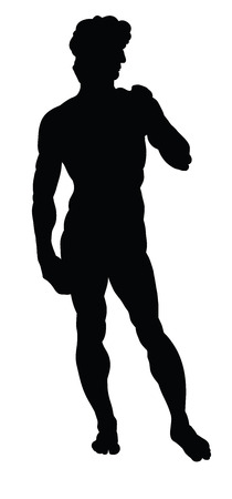 Silhouette of Michelangelo