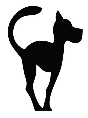Symbolic Silhouette of a Dog  isolated on white