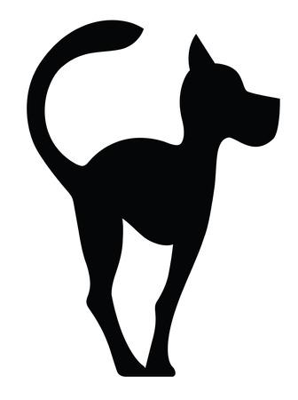 白で隔離犬の象徴的なシルエット