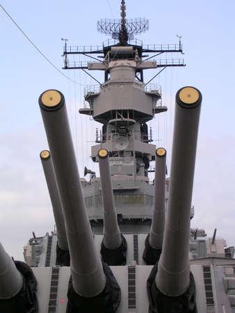 radar gun: USS Wisconsin