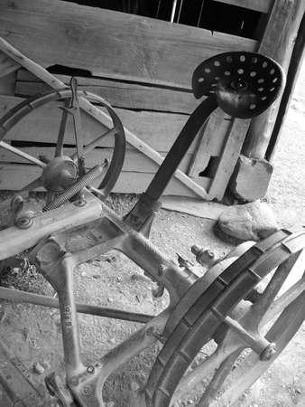 farm equipment: Old Farm Equipment Stock Photo