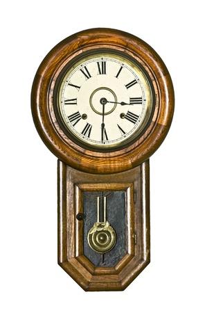 reloj de pendulo: Vintage reloj de p�ndulo Foto de archivo