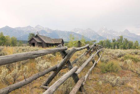 Chapel by Mountain Range photo