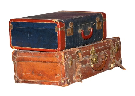 old items: Vintage Baggage Isolated