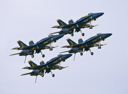 FLORIDA, USA - NOVEMBER 6: Blue Angels taking off during performance on