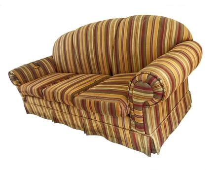 sofa: Old Sofa Isolated