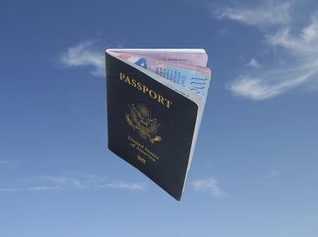 USA Passport Across the Sky
