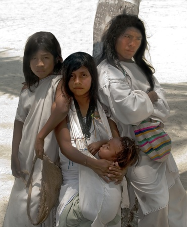 indigenous: SANTA MARTA, COLOMBIA - SEPT 4: KOGUI Indians on Sept 4, 2010 in Santa Marta, Colombia. Descendants of the Tayrona culture, they live in isolation in the Colombian Sierra Nevada Mountains. Editorial