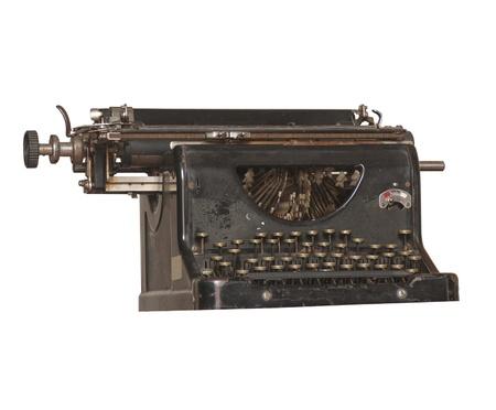 secretarial: Isolated Vintage Typewriter