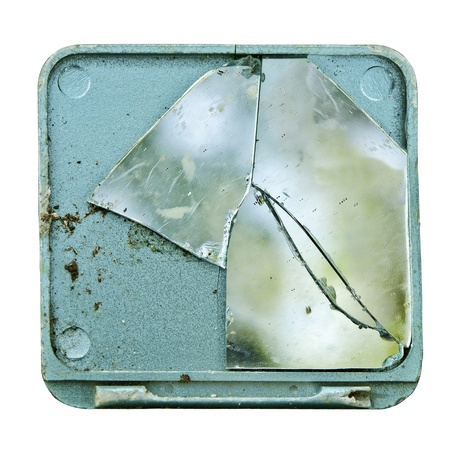 Shattered Make-Up  Mirror Stock Photo - 10324789
