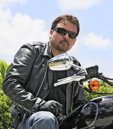 Motorcycle Rider Close-up