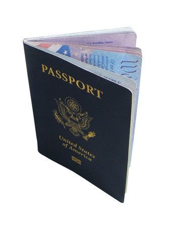 Isolated USA Passport Flipping Pages Stock Photo - 10657562