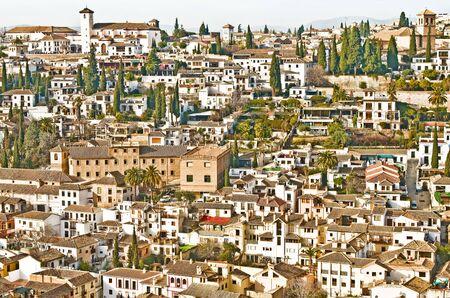 granada: Wide View of Granada, Spain