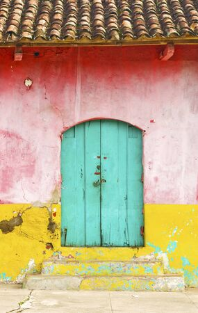 Nicaragua: Colorful Rural House Facade