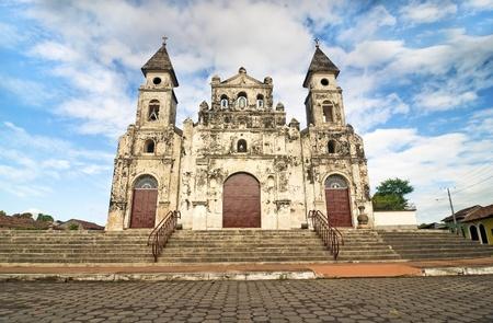 granada: Guadalupe Church at Colonial Granada, Nicaragua Stock Photo