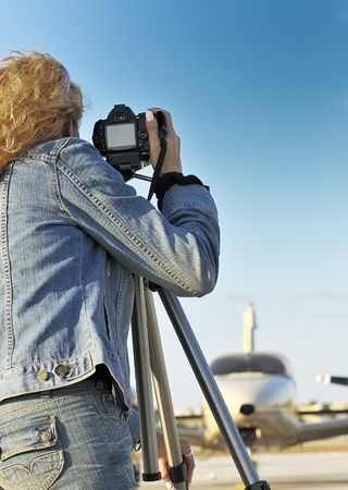 Photographing an Airplane