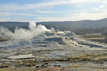 caldera: Active Caldera at Yellowstone National Park, USA