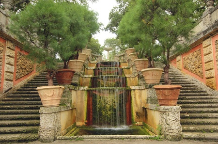 Cascading Architectural Fountain