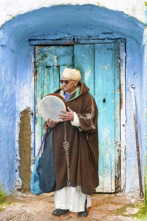 Moroccan Musician at the Medina
