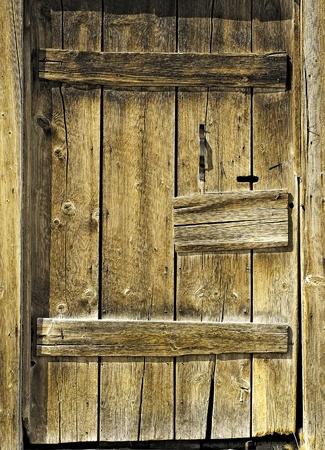 Rustic Barn Wood Door Banco de Imagens