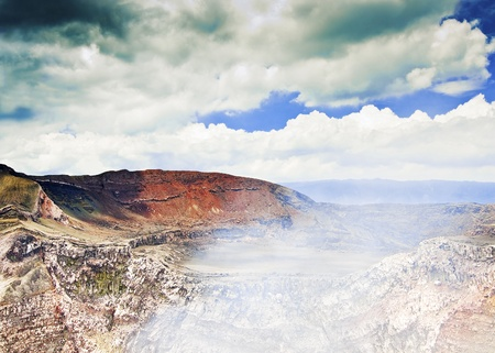 active volcano: Active Volcano at Masaya, Nicaragua