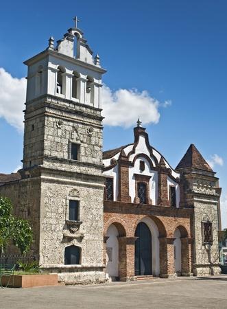 santo domingo: Santa Barbara Church at Santo Domingo, Dominican Republic Stock Photo