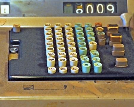 Vintage Cash Register Close Up