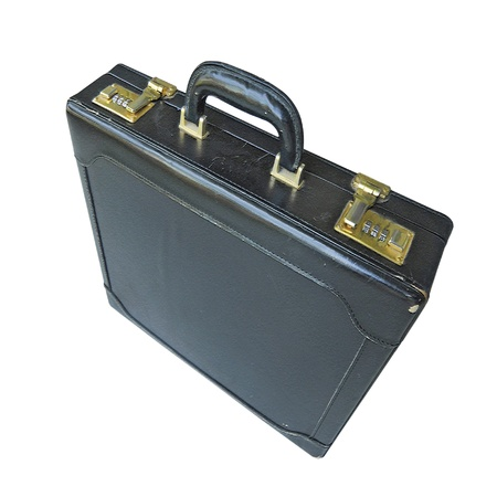 renounce: Business Suitcase Wide Perspective Stock Photo