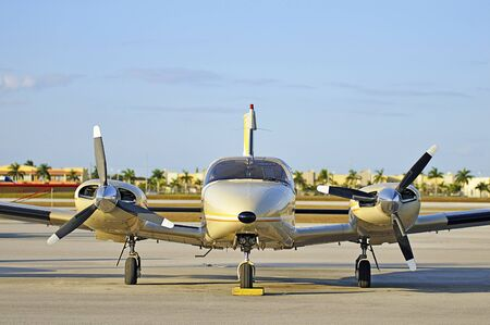 frontal view: Small Airplane Frontal View