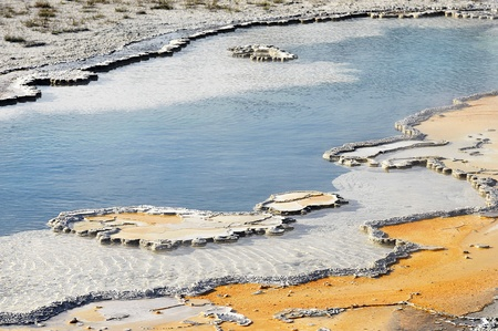 Geothermal Pond at Yellowstone National Park photo