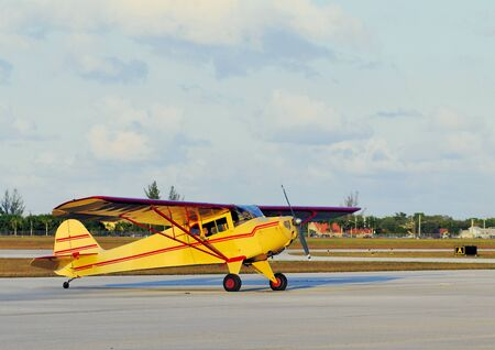 Small Yellow Aircraft