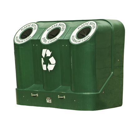 Isolated Recycle Container photo