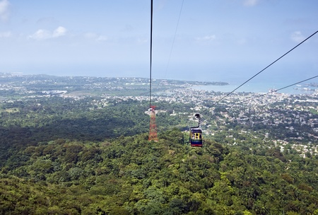 Funicular with a view of Puerto Plata , Dominican Republic