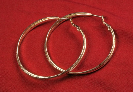 earrings: Fantasy Round Earrings Stock Photo