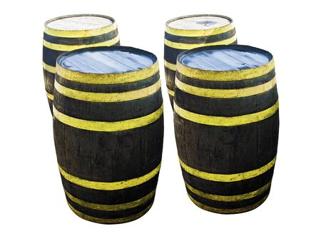 Isolated Liquor Barrels Stock Photo - 13608171