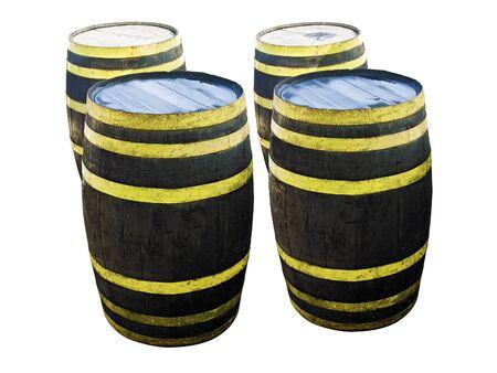 Isolated Liquor Barrels Stock Photo - 13608171