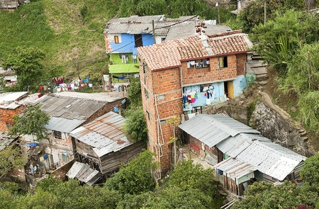 Aerial view of Marginal Neighborhood Stock Photo