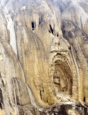 geological formation: Geological Rock Formation Resembling a Screaming Face