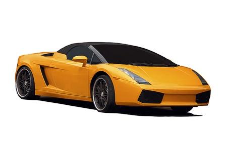 Isolated Impressive Sport Car