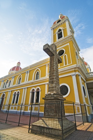Granada, Nicaragua Cathedral - Low Angle Image