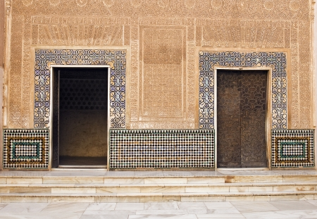 Moorish Doors at Alhambra Palace - Granada, Spain photo
