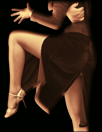 salsa dancer: Abstract Tango
