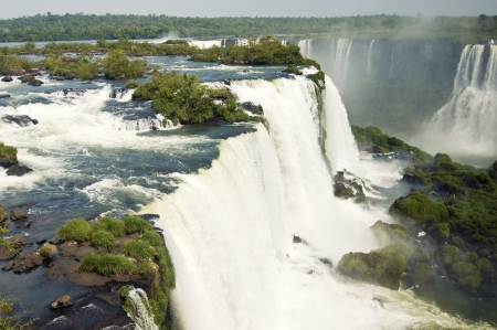 gravity: Close View of Iguazu Falls Stock Photo