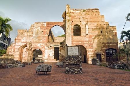 trave: Ruins of San Nicolas de Bari at Santo Domingo, Dominican Republic.