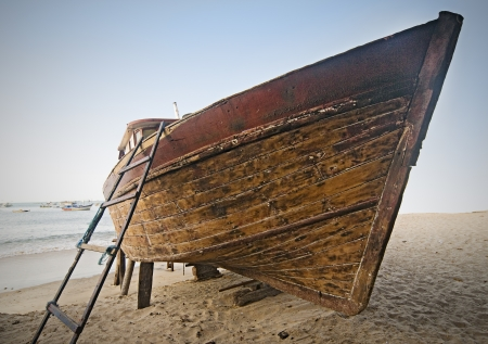 Deserted Wooden Boat  photo