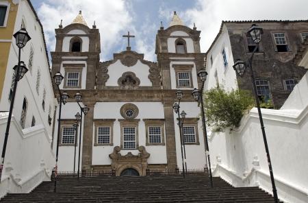 Iglesia de Santa B�rbara en el Pelourinho, Salvador de Bah�a, Brasil Foto de archivo - 19081147