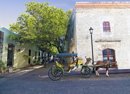 Colonial Zone Street at Santo Domingo, Dominican Republic