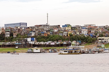 Amazon River and the City of Manaus, Brazil