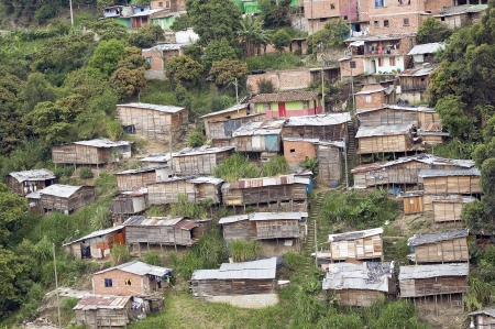 Poor Neighborhood Houses on a Hill